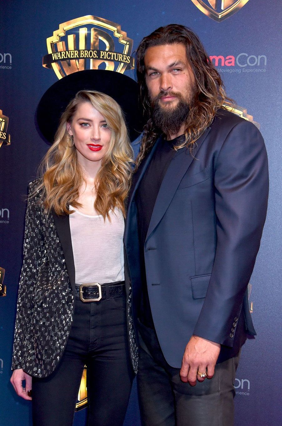 Amber Heard et Jason Momoa au CinemaCon de Las Vegas le 24 avril 2018