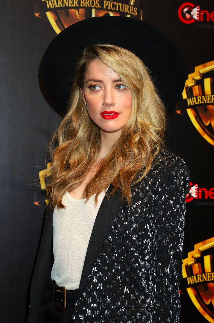 Amber Heard au CinemaCon de Las Vegas le 24 avril 2018