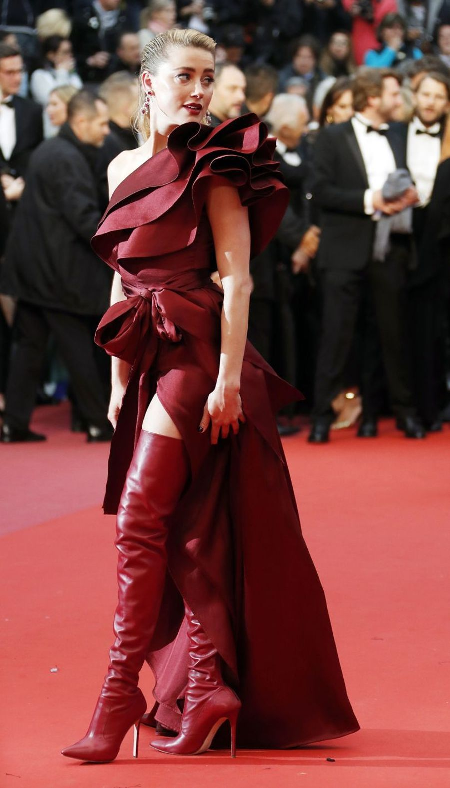 Amber Heardlors du Festival de Cannes, le 17 mai 2019