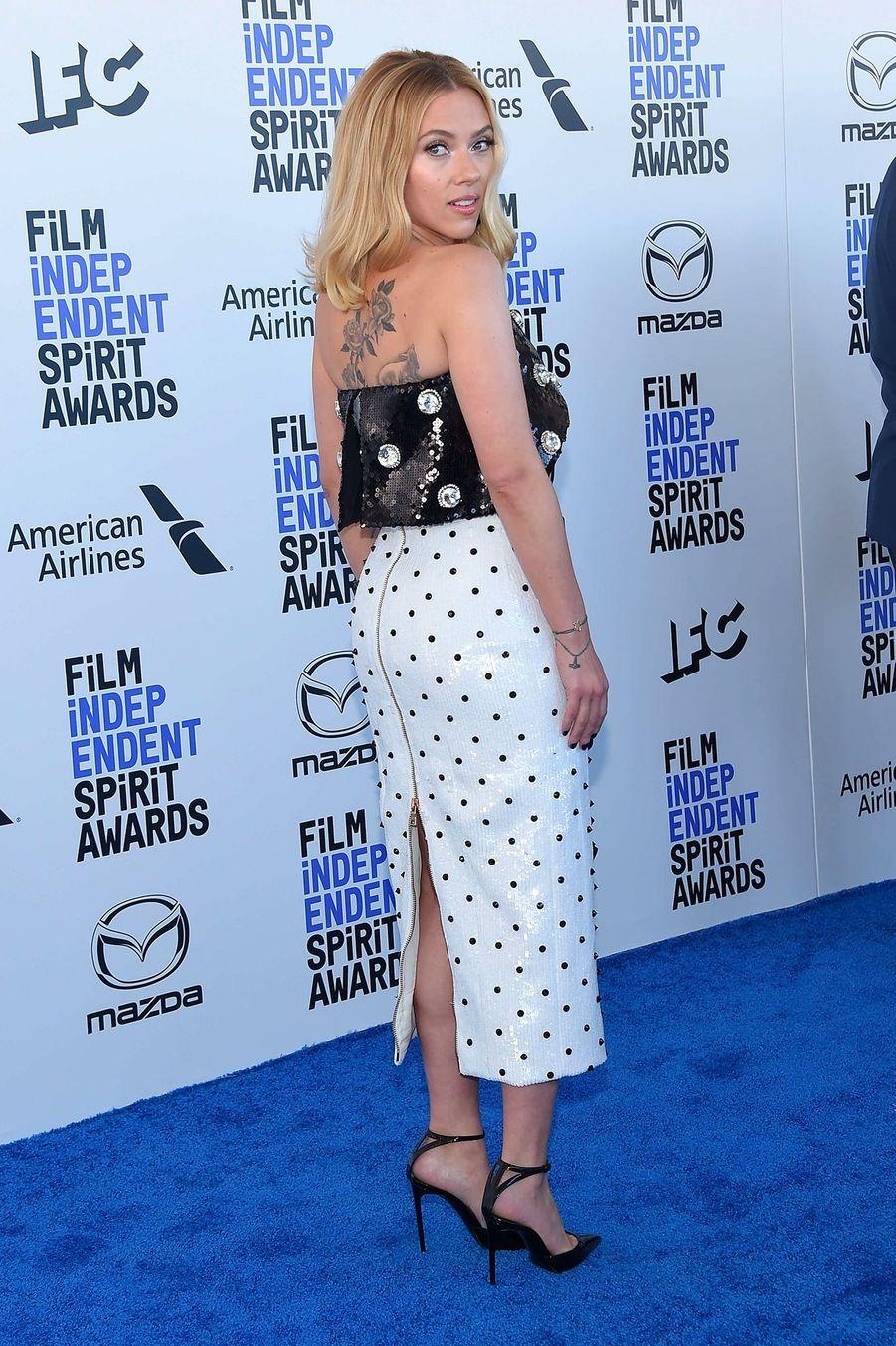 Scarlett Johansson, auxIndependent's Spirit Awards, le 8 février à Santa Monica.