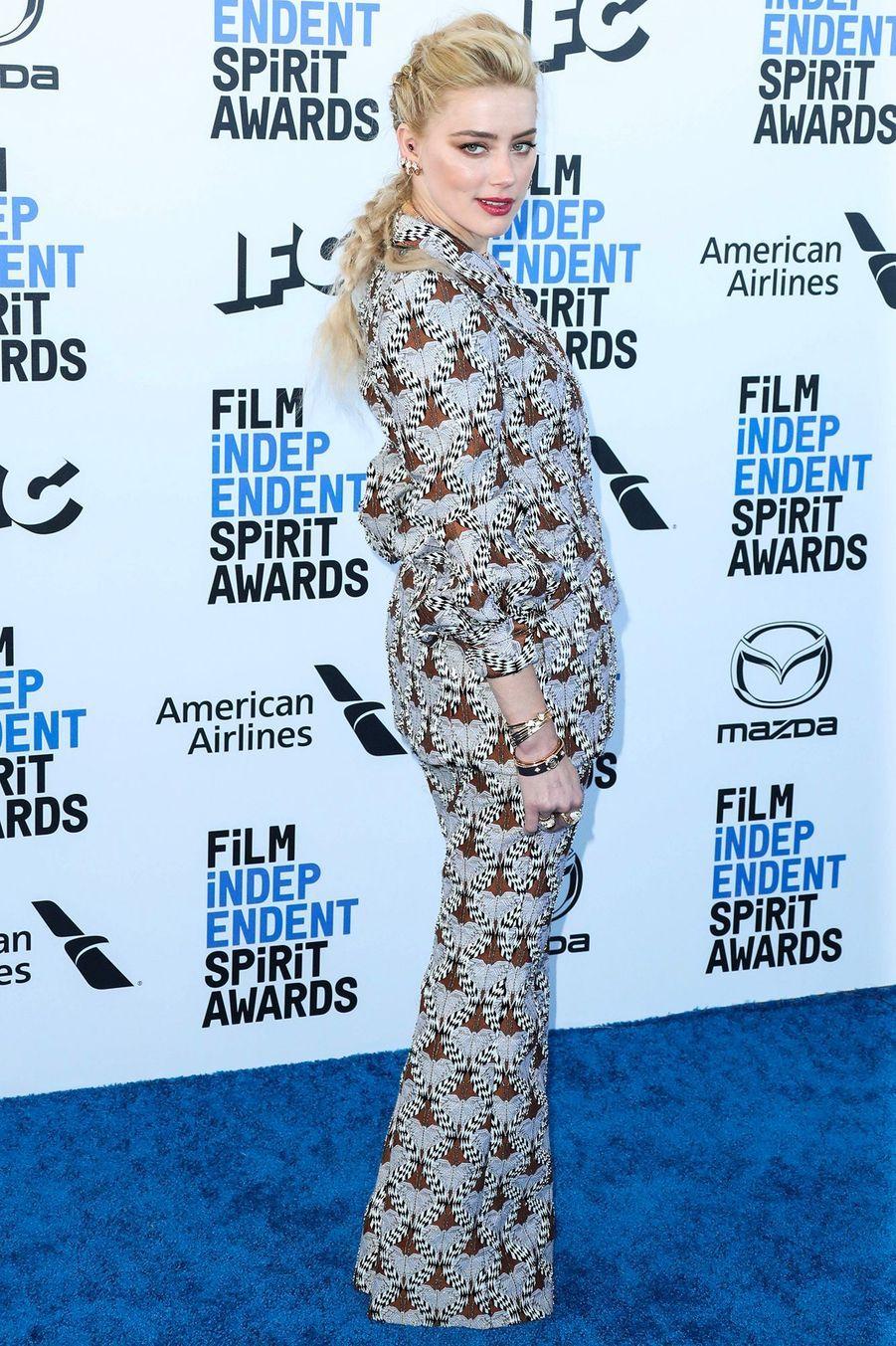 Amber Heard, auxIndependent's Spirit Awards, le 8 février à Santa Monica.