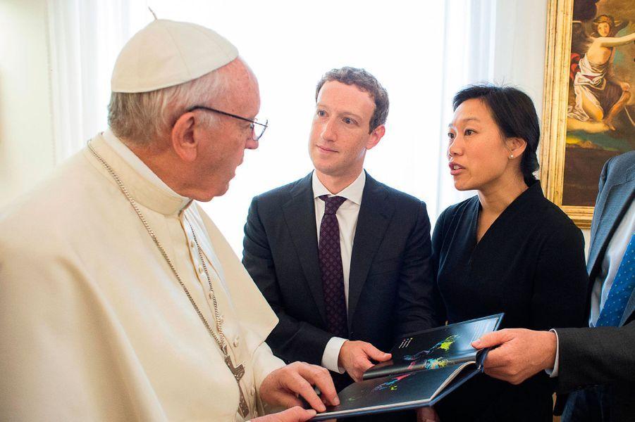 Mark Zuckerberg et sa femme, Priscilla Chan