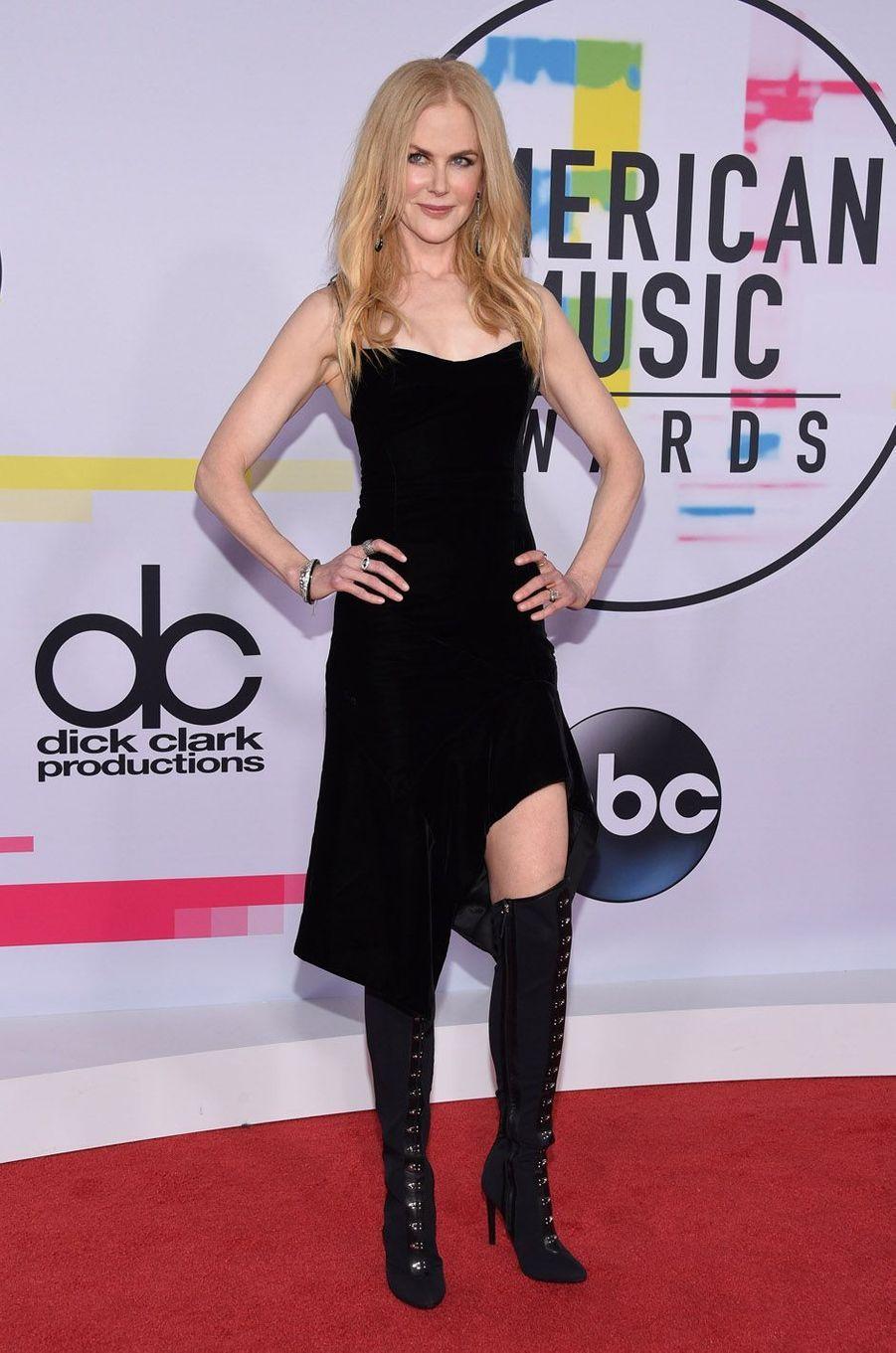 Nicole Kidmanaux American Music Awards, le 19 novembre 2017 à Los Angeles.