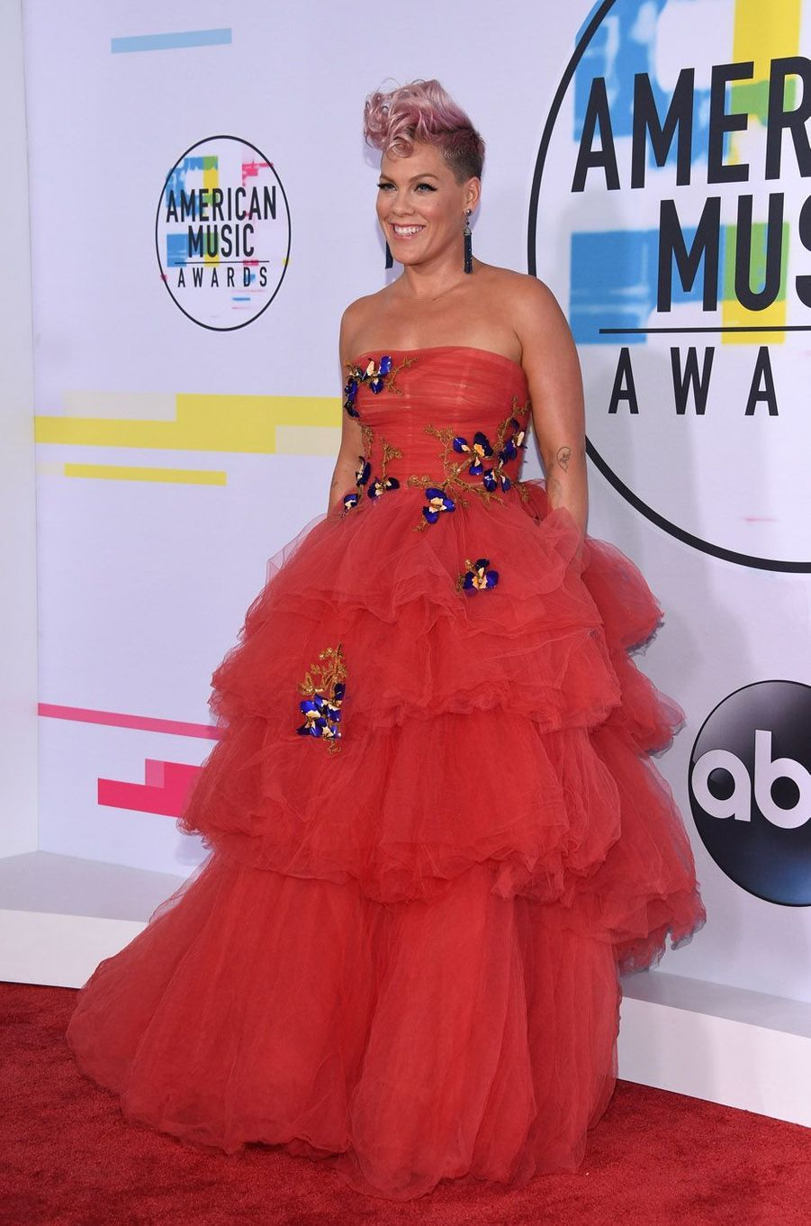 Pink aux American Music Awards, le 19 novembre 2017 à Los Angeles.
