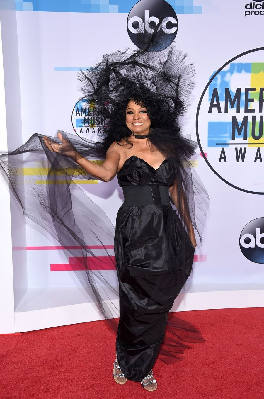 Diana Ross aux American Music Awards, le 19 novembre 2017 à Los Angeles.