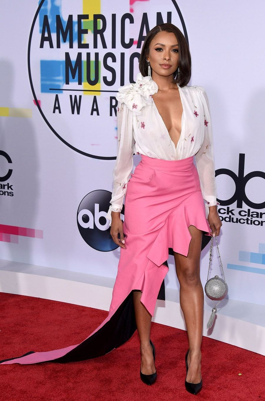 Kat Graham aux American Music Awards, le 19 novembre 2017 à Los Angeles.