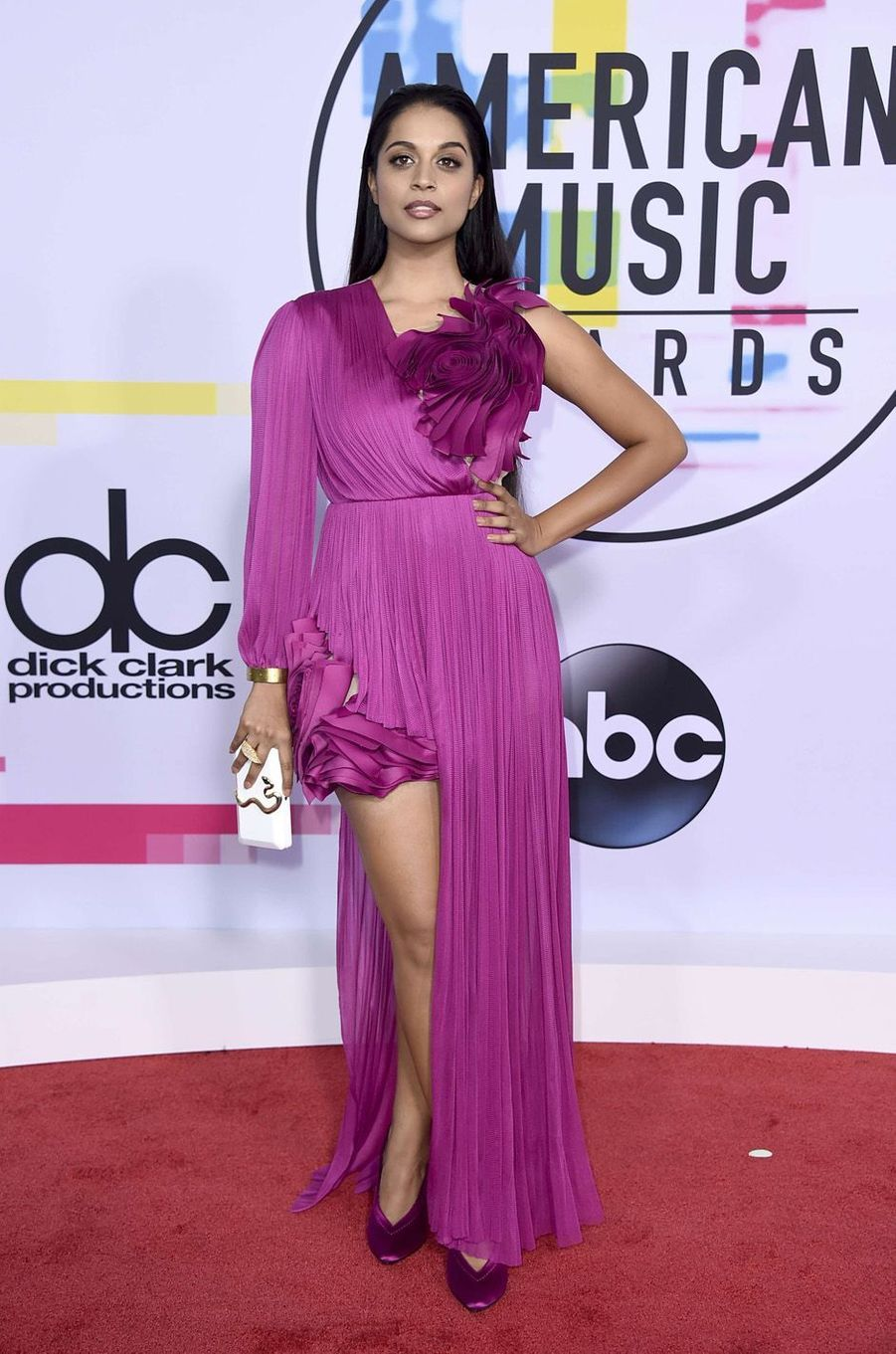 Lilly Singh aux American Music Awards, le 19 novembre 2017 à Los Angeles.