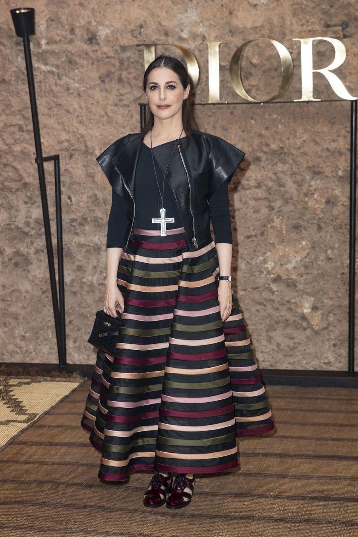 Amira Casar au défilé Croisière Dior au Palais El Badi à Marrakech, le 29 avril 2019