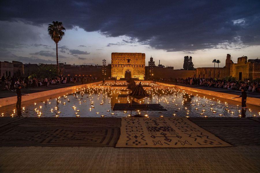 Ambiance dudéfilé Croisière Dior au Palais El Badi à Marrakech, le 29 avril 2019