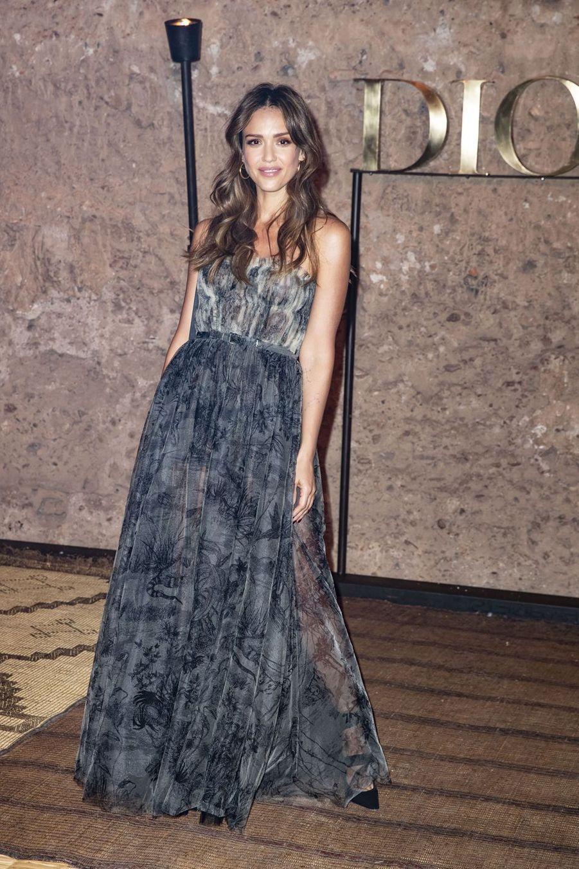 Jessica Albaau défilé Croisière Dior au Palais El Badi à Marrakech, le 29 avril 2019