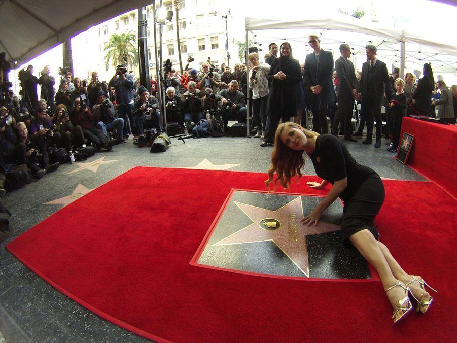 Amy Adams sur le Walk of Fame d'Hollywood.