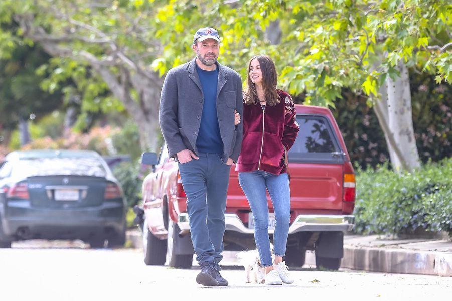 Ana de Armas et Ben Affleck à Los Angeles le 28 mars 2020