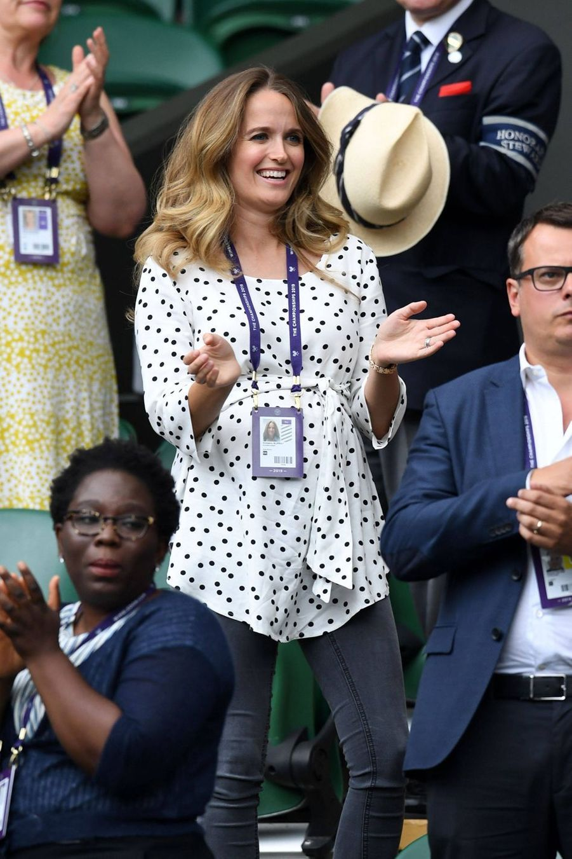 Kim Sears à Wimbledon le 9 juillet 2019
