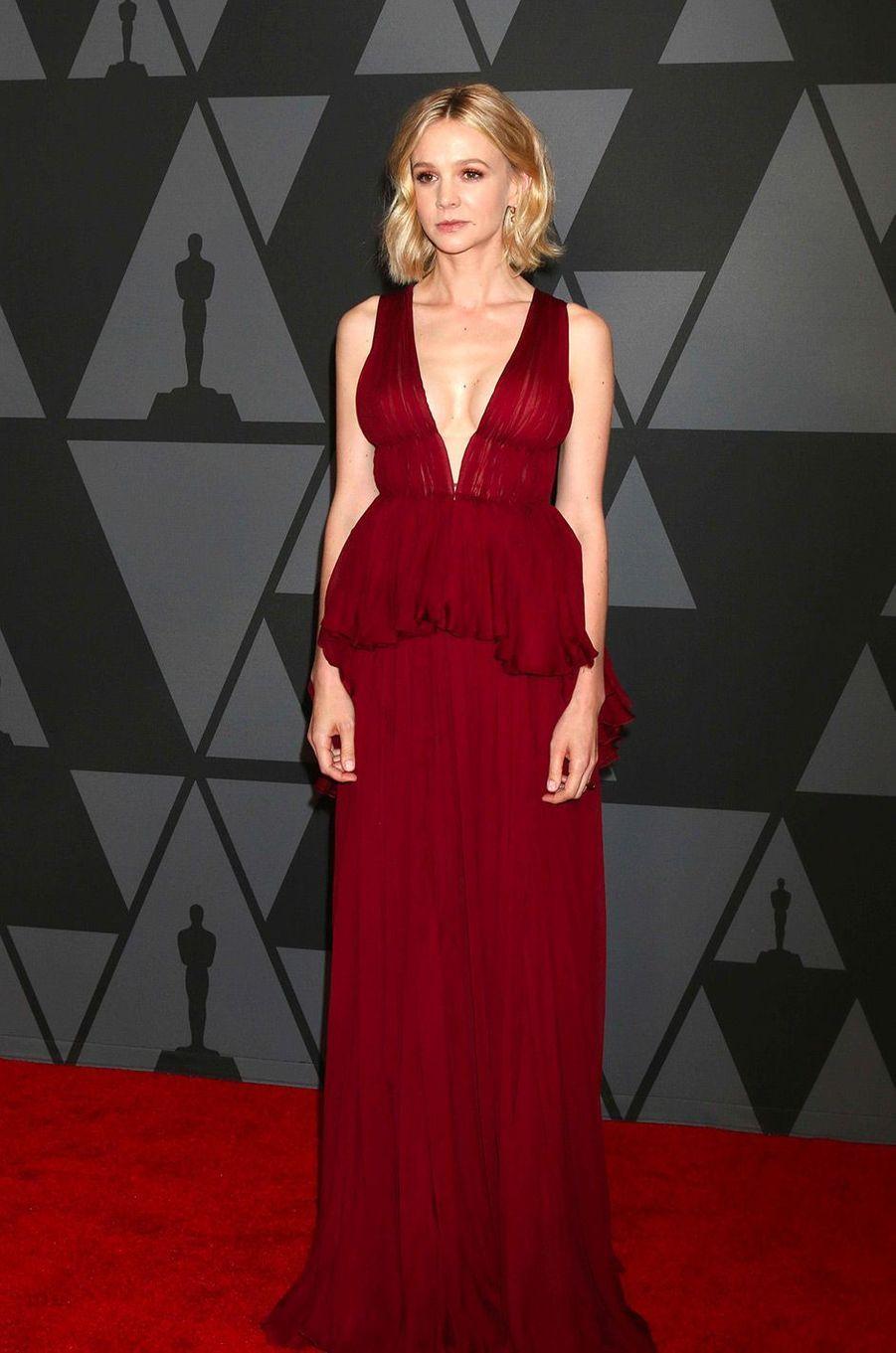 Carey Mulligan aux Governors Awards à Los Angeles, samedi 11 novembre