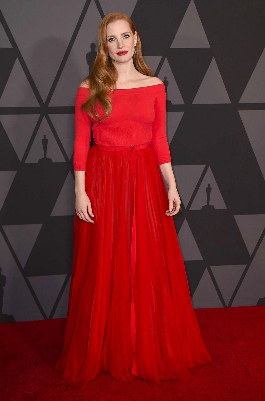 Jessica Chastainaux Governors Awards à Los Angeles, samedi 11 novembre