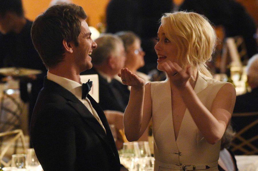 Emma Stone et Andrew Garfield aux Governors Awards à Los Angeles, samedi 11 novembre
