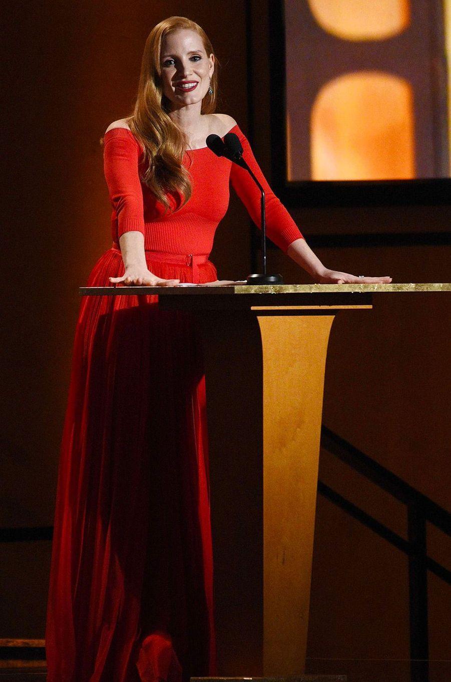 Jessica Chastain aux Governors Awards à Los Angeles, samedi 11 novembre