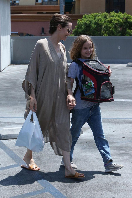 Angelina Jolie et sa fille Vivienne à Los Angeles le 28 juillet 2019