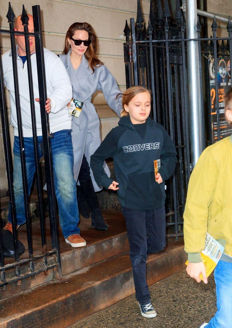 Angelina Jolie et ses enfants à New York le 24 février 2019
