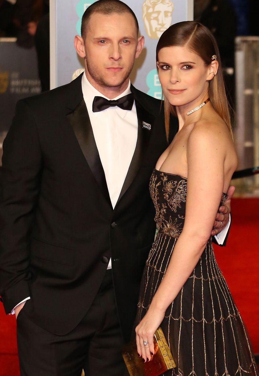 Kate Mara et Jamie Bellà la cérémonie des Bafta, dimanche à Londres