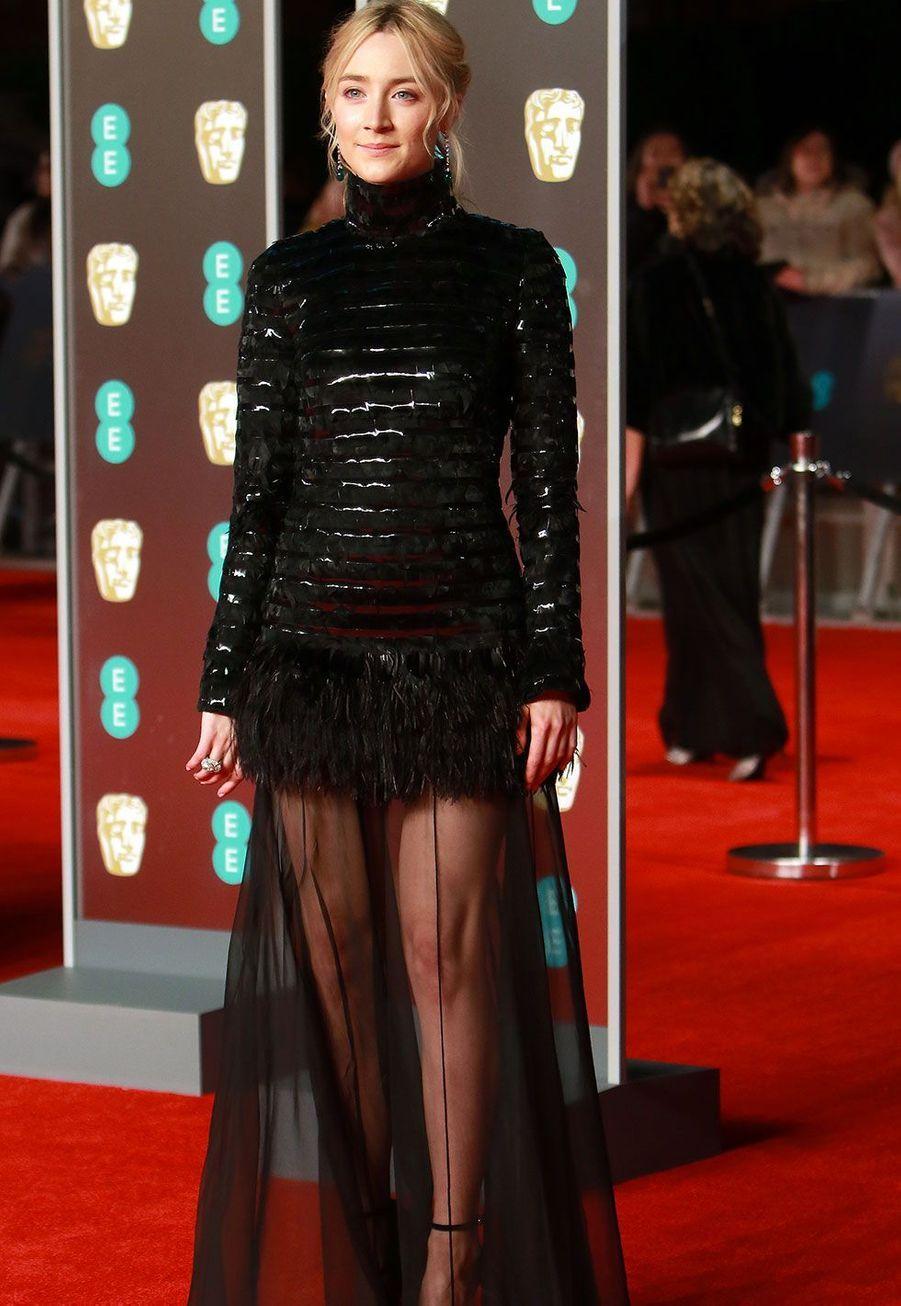Saoirse Ronanà la cérémonie des Bafta dimanche, à Londres