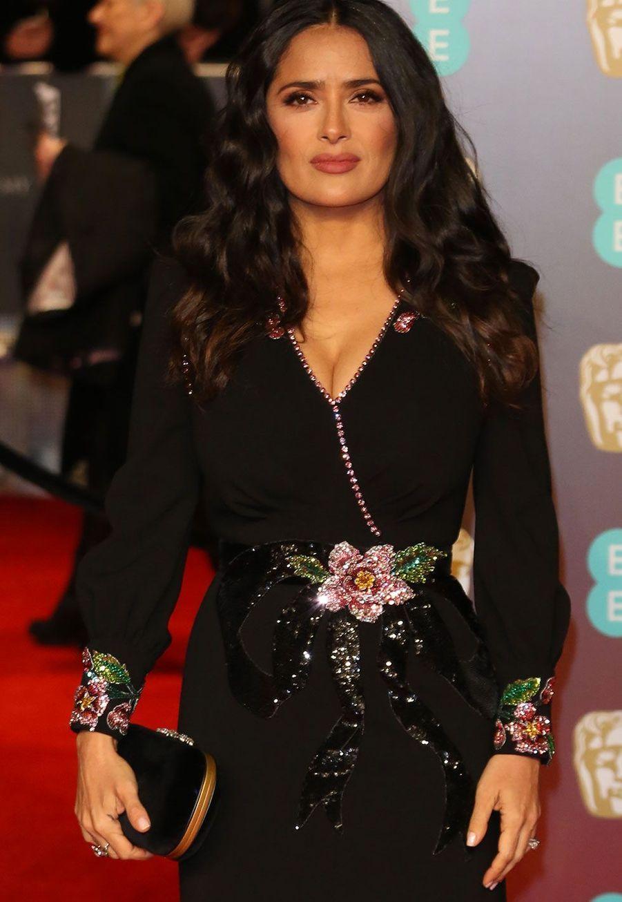 Salma Hayekà la cérémonie des Bafta dimanche, à Londres