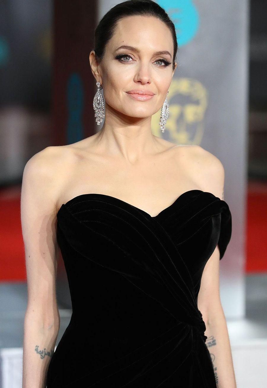 Angelina Jolie à la cérémonie des Bafta dimanche, à Londres