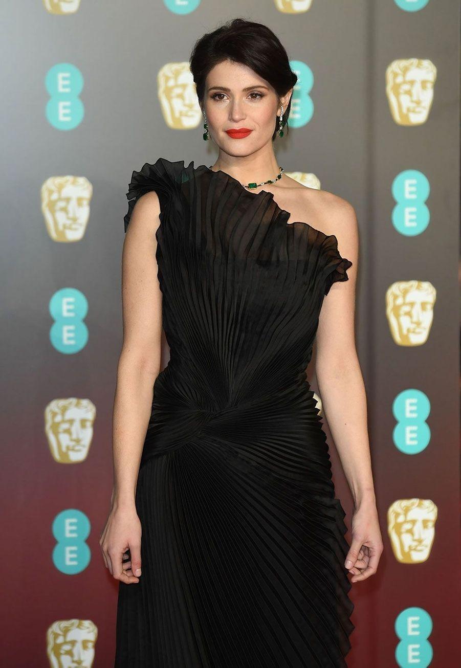 Gemma Arterton lors de la cérémonie des Bafta, dimanche à Londres