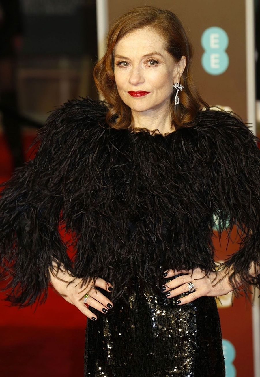 Isabelle Huppert lors de la cérémonie des Bafta, dimanche à Londres