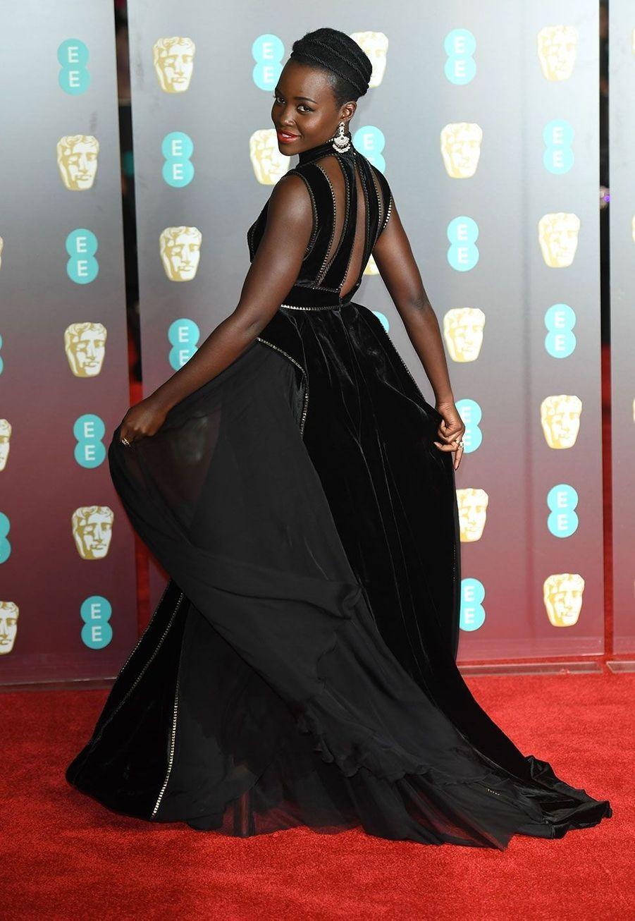 Lupita Nyong'olors de la cérémonie des Bafta, dimanche à Londres