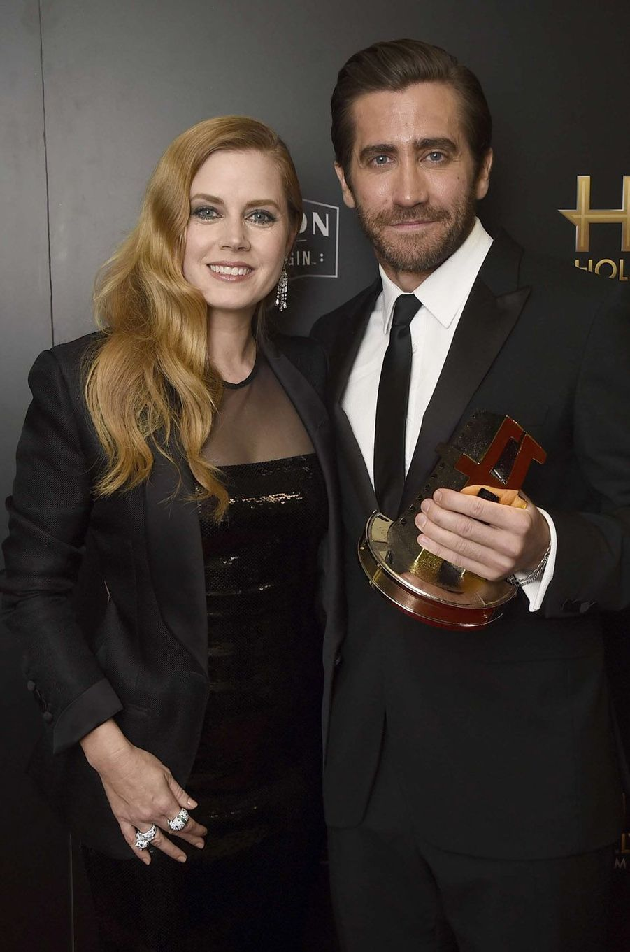 Amy Adams et Jake Gyllenhaal à la cérémonie des Hollywood Film Awards à Beverly Hills, le 5 novembre 2017.