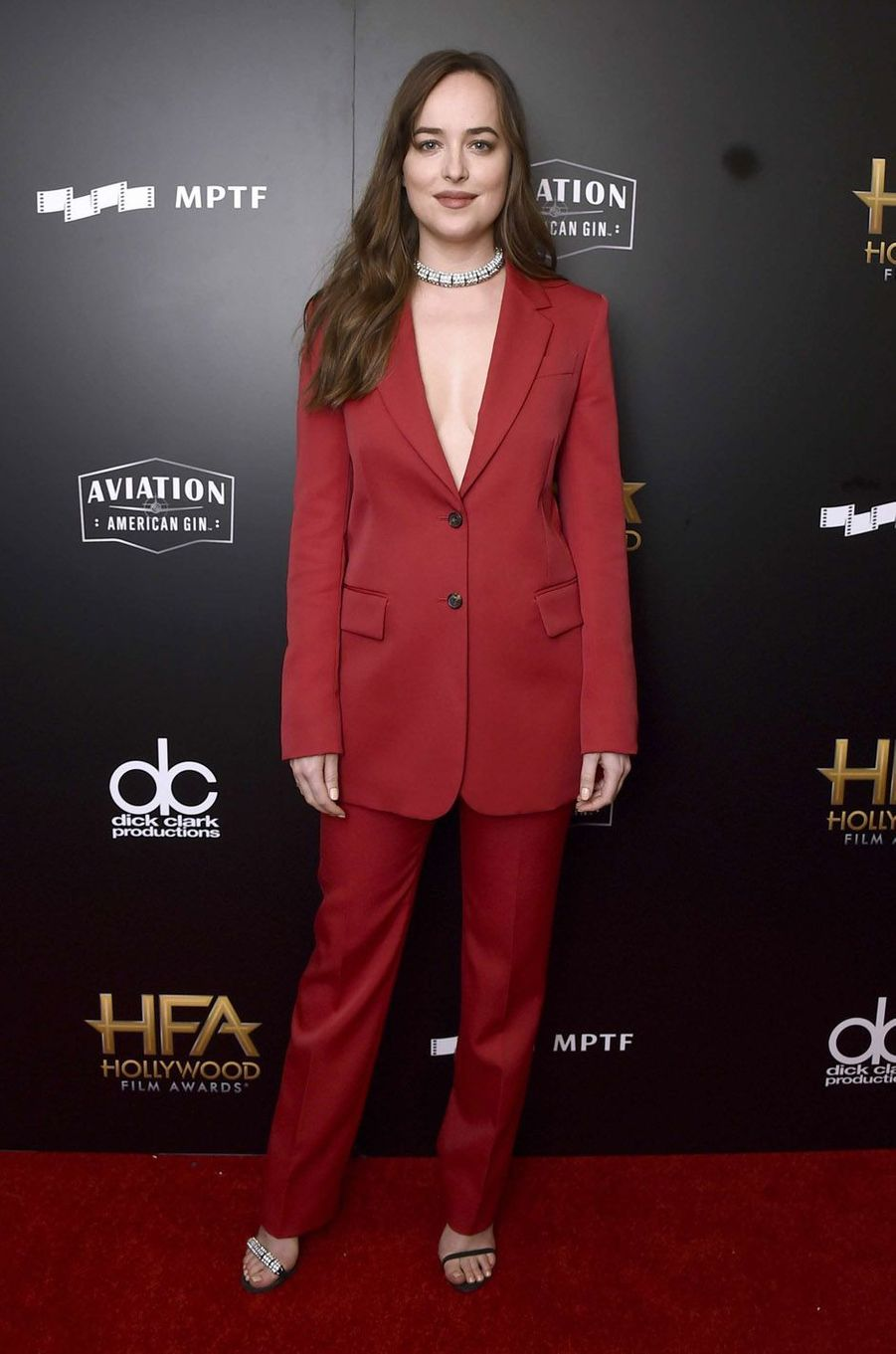 Dakota Johnson à la cérémonie des Hollywood Film Awards à Beverly Hills, le 5 novembre 2017.