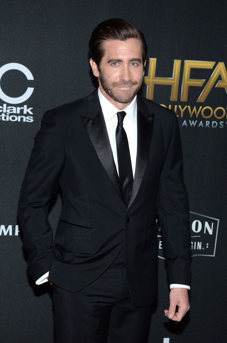 Jake Gyllenhaal à la cérémonie des Hollywood Film Awards à Beverly Hills, le 5 novembre 2017.
