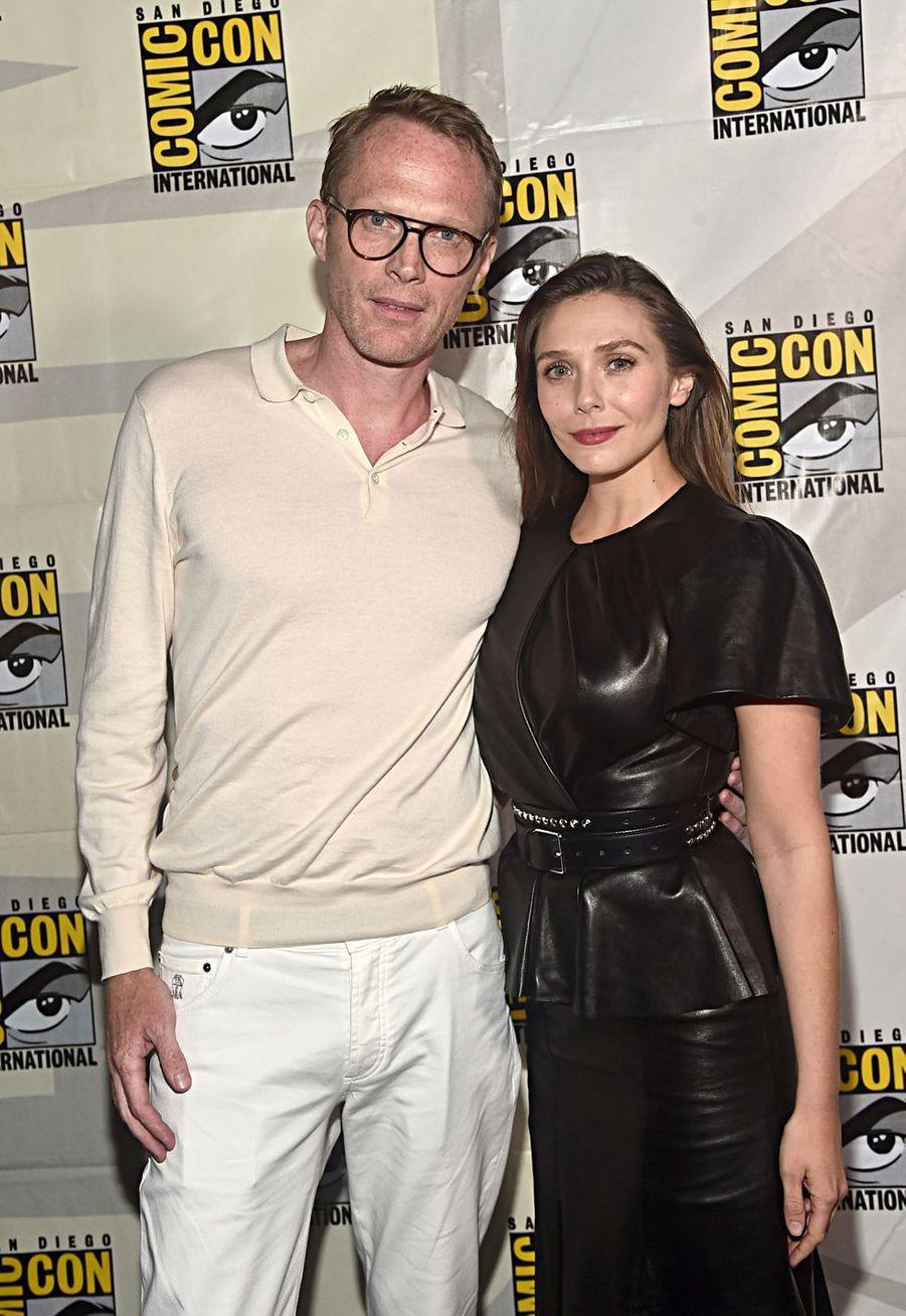 Paul Bettany et Elizabeth Olsenau Comic-Con à San Diego le 20 juillet 2019