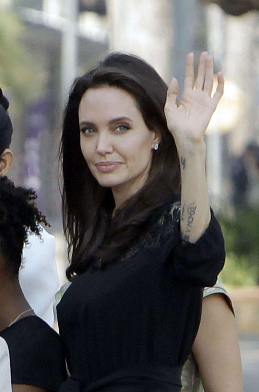Angelina Jolie au Cambodge, le 18 février 2017.