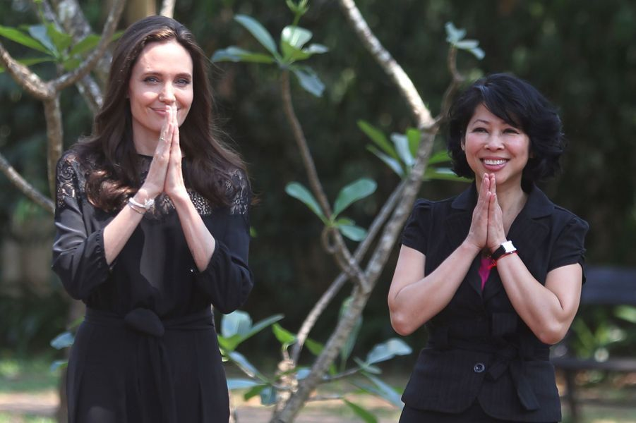 Angelina Jolie etLoung Ungau Cambodge, le 18 février 2017.