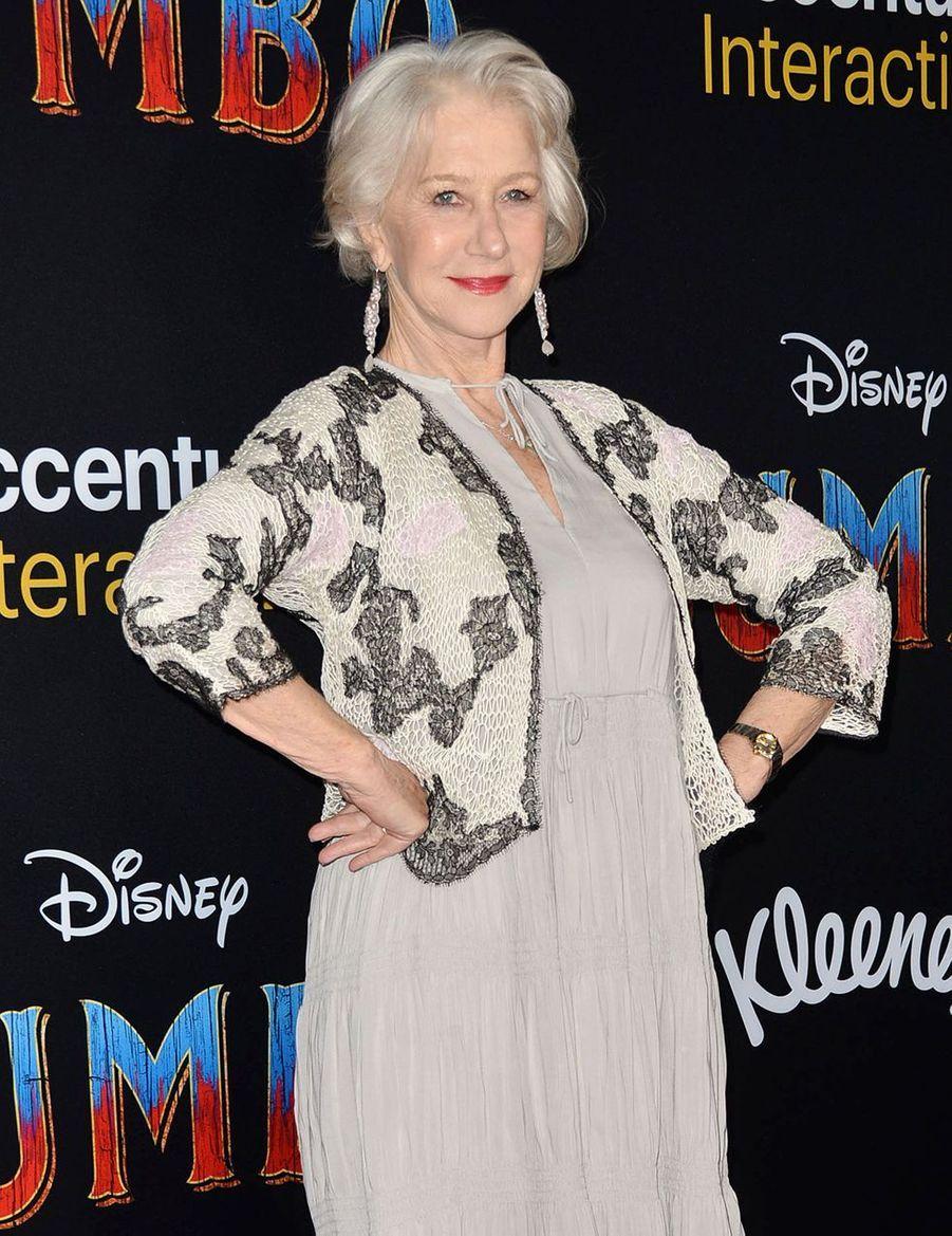 Helen Mirrenà la première de Dumbo à Los Angeles, le 11 mars 2019