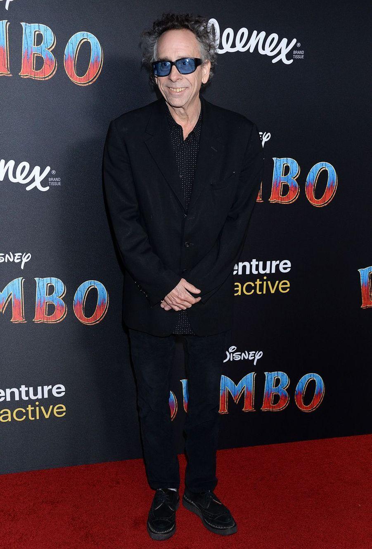 Tim Burtonà la première de Dumbo à Los Angeles, le 11 mars 2019