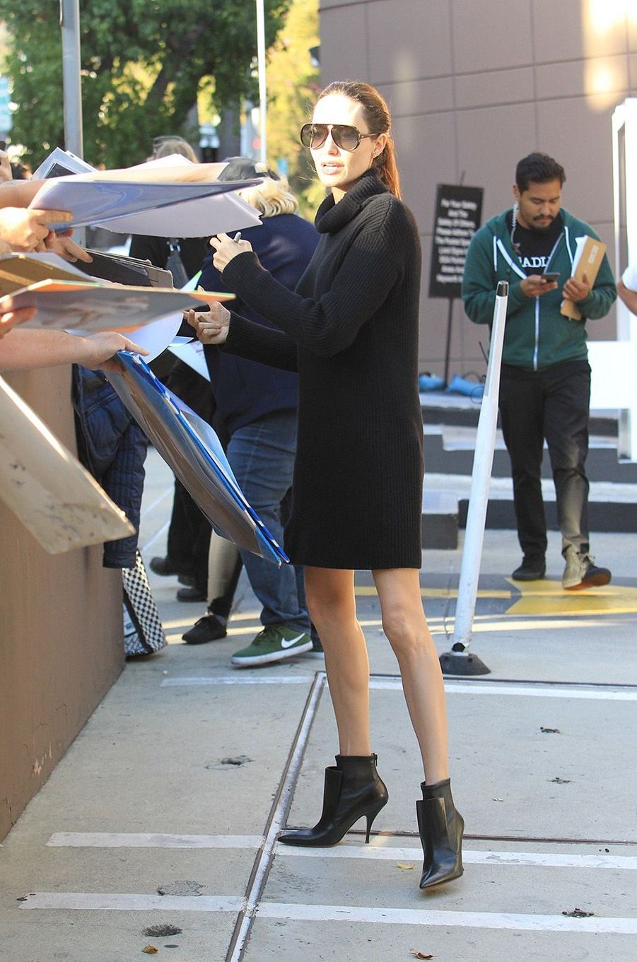 Angelina Jolie dans les rues de Los Angeles, le 4 novembre 2017.