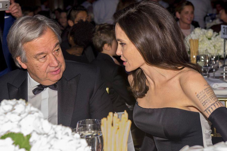 Angelina Jolie et Antonio Guterres