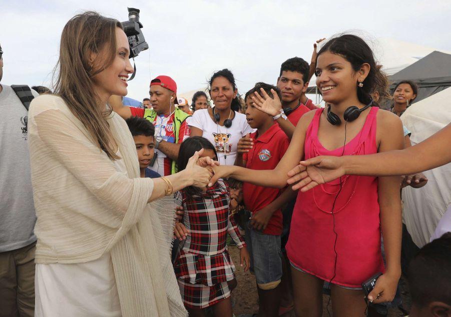 Angelina Jolie en Colombie le 8 juin 2019
