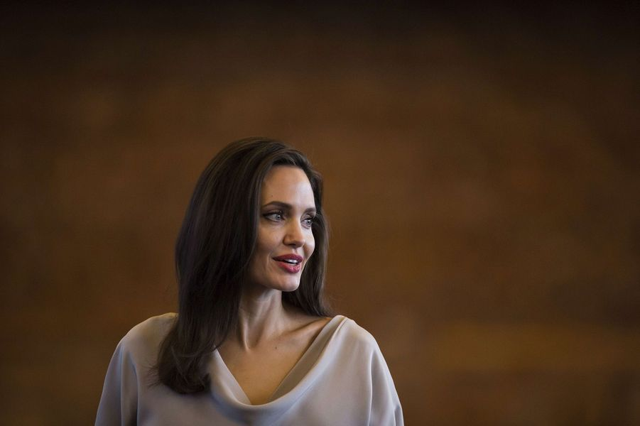 Angelina Jolie au sommet des Nations-Unies à Vancouver, le 15 novembre 2017.