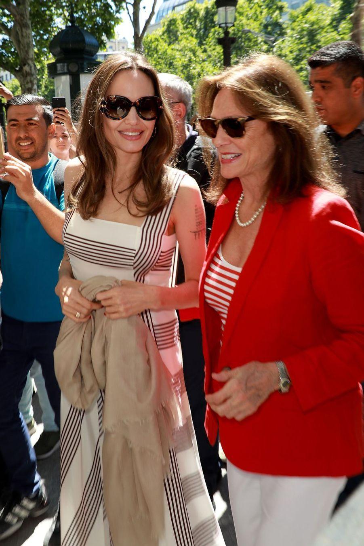 Angelina Jolie et Jacqueline Bisset à Paris le 9 juillet 2019