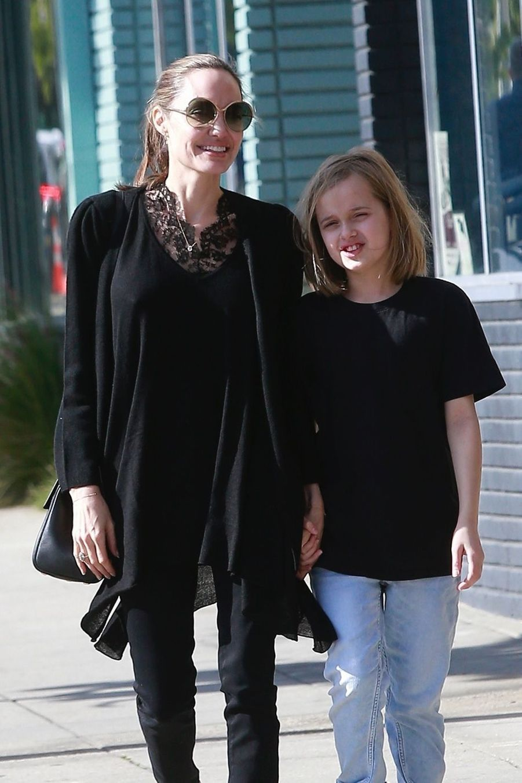 Angelina Jolie et sa fille Vivienne à Los Angeles le 17 février 2019