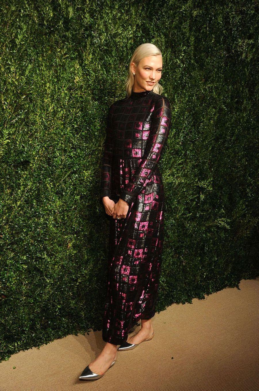 Karlie Kloss aux CFDA Fashion Awards, à New York, le 6 novembre 2017.