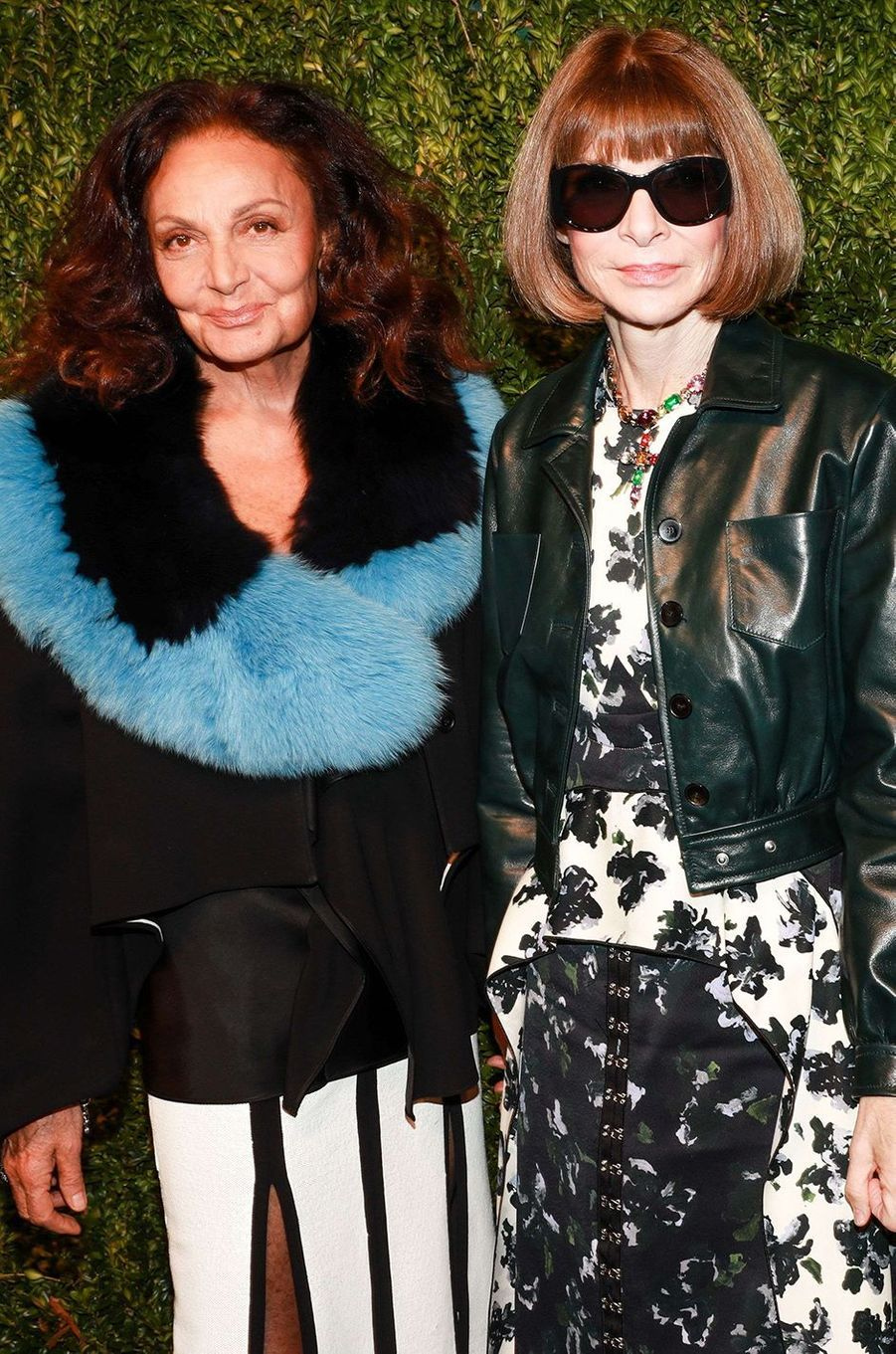 Anna Wintour avec Diane von Furstenberg aux CFDA Fashion Awards, à New York, le 6 novembre 2017.