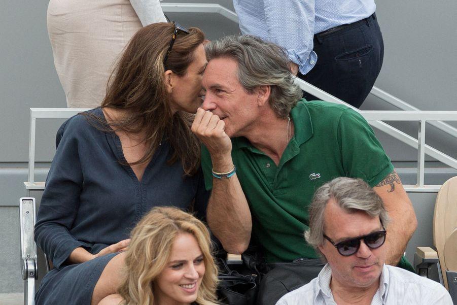 Anne-Claire Coudray et son compagnon Nicolas Vix à Roland-Garros le 3 juin 2019