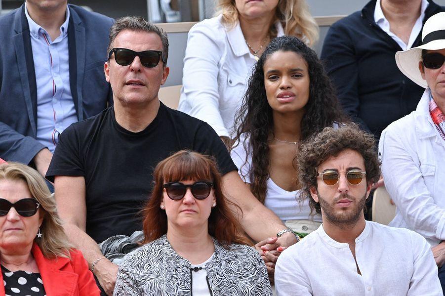Jean Roch et sa femme Anaïs Monoryà Roland-Garros le 3 juin 2019