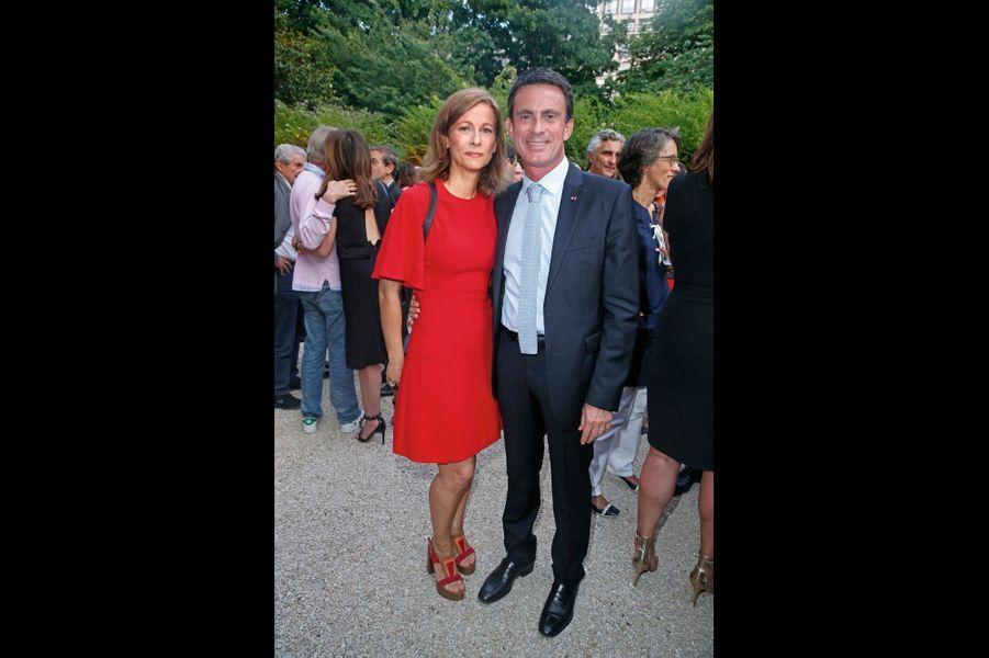 Anne Gravoin et ManueL Valls.
