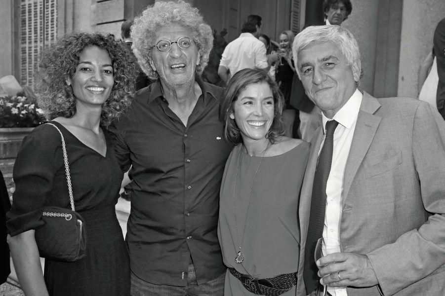 Isabelle Sulpicy et Elie Chouraqui, Elodie Garamond et Hervé Morin.